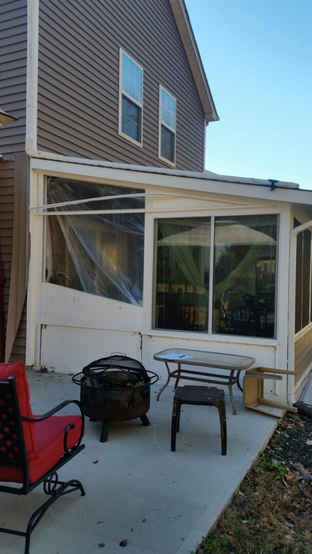 Wendell, NC - Future project going to install a sliding patio door where windows used to be