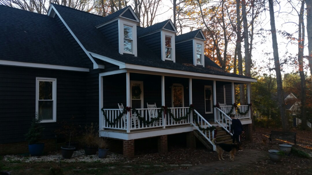 Holly Springs, NC - Remove 12 wooden windows and installed 12 vinyl replacement windows. Low E and Argon gas