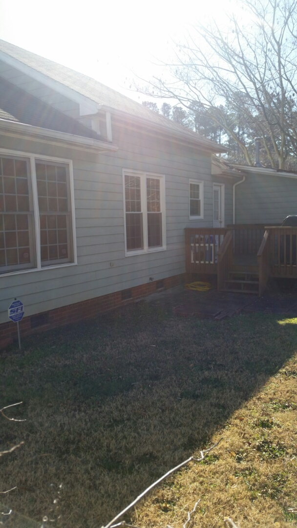 Garner, NC - Garner area removed for wooden windows and replaced with four vinyl replacement windows. Low e and Argon gas