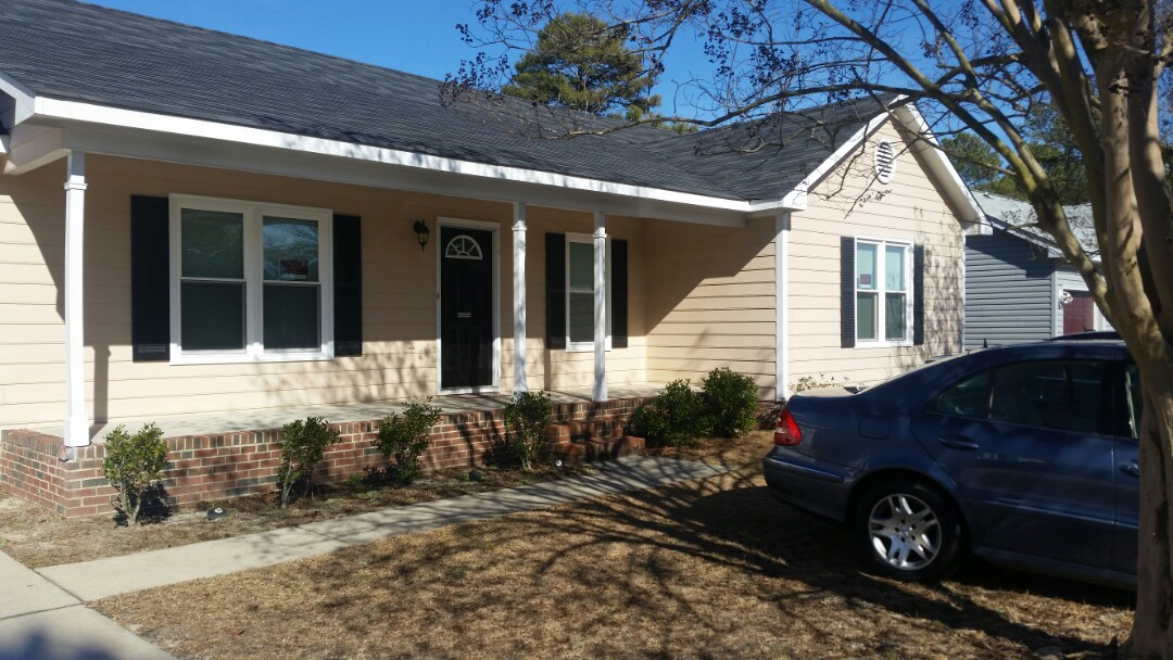 Fayetteville, NC - Removed 11 wood windows and replaced will 11 vinyl replacement windows. Also wrapped all windows with aluminum for less maintenance. In Fayetteville