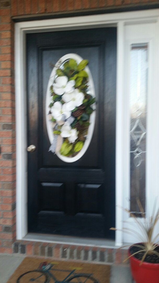 Clayton, NC - Future project replacing exterior front door Woodside light with new exterior front door with sidelight