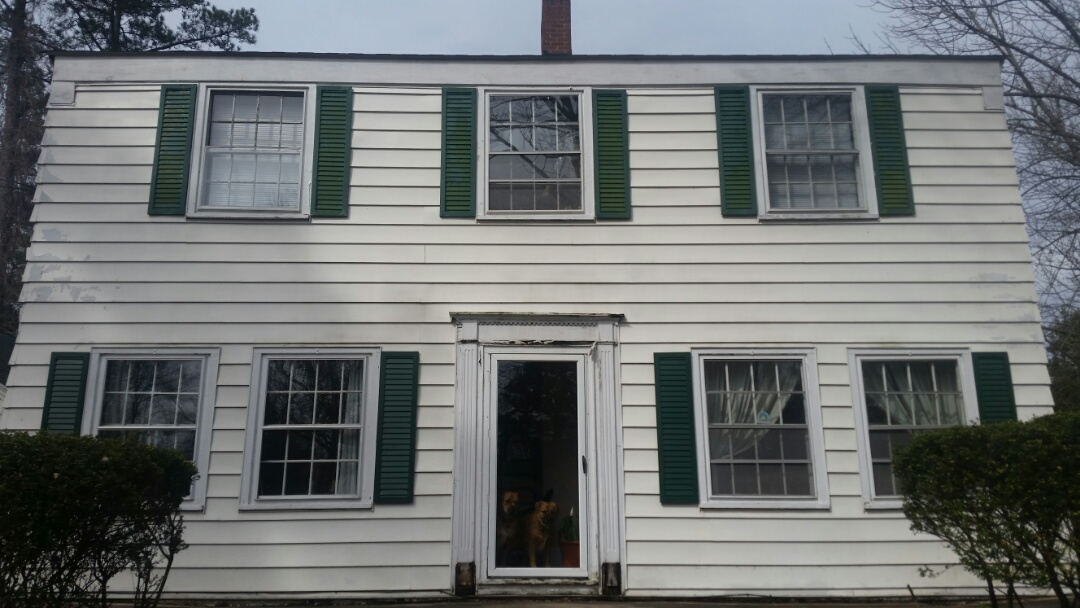 Zebulon, NC - New project. Removing 23 wooden windows and replacing with 23 vinyl replacement windows. Will also be capping all windows with white aluminum