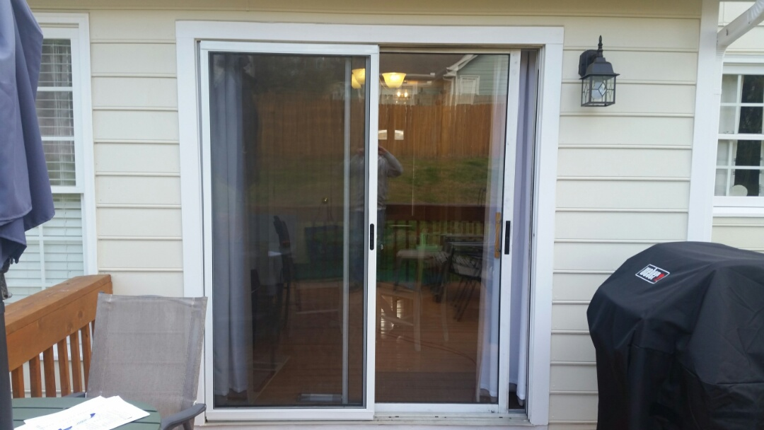 Garner, NC - Future project removing old dysfunctional sliding patio door and replacing with new vinyl sliding patio door