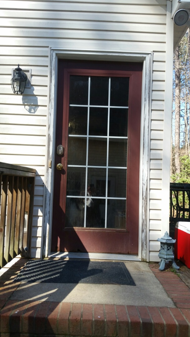 Zebulon, NC - The future project removing current exterior door and replacing with new exterior door