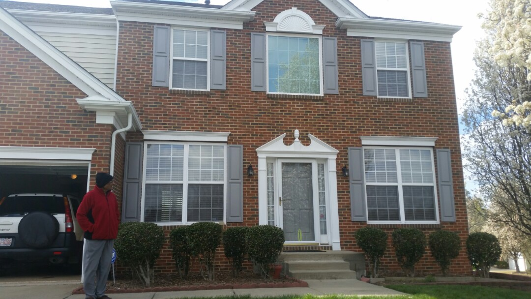 Morrisville, NC - Recent project in Morrisville. Removed aging vinyl windows and replaced with new insulated frame and sash vinyl replacement windows