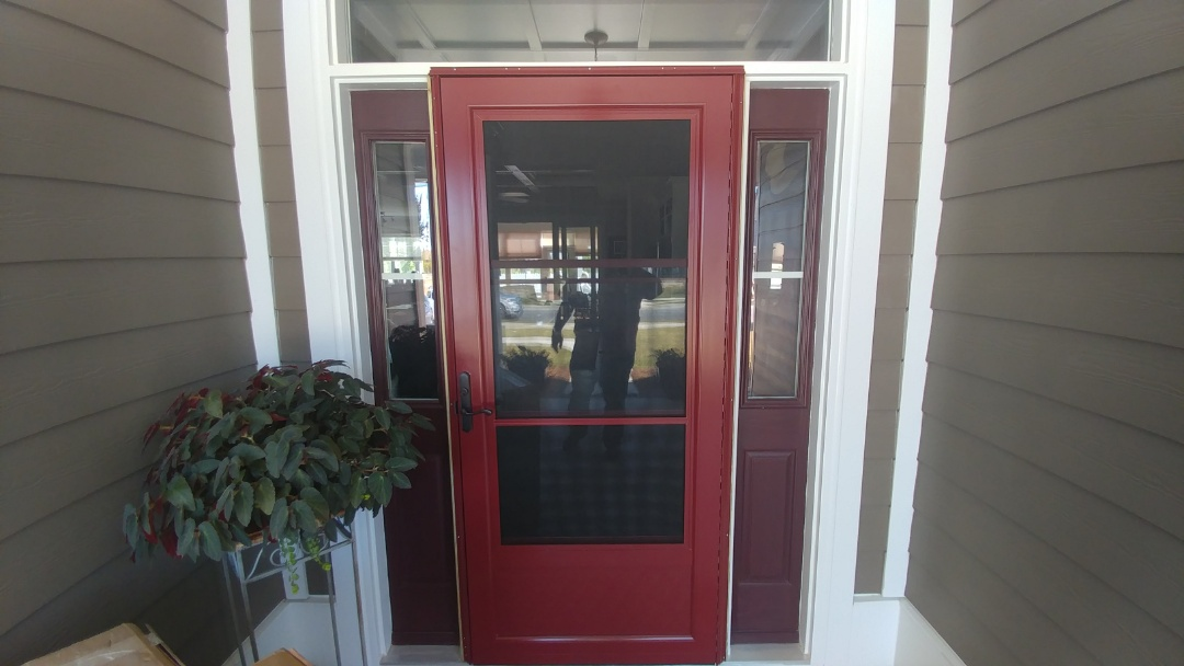 Wilmington, NC - Installed a new ProVia storm door with a hideaway glass.