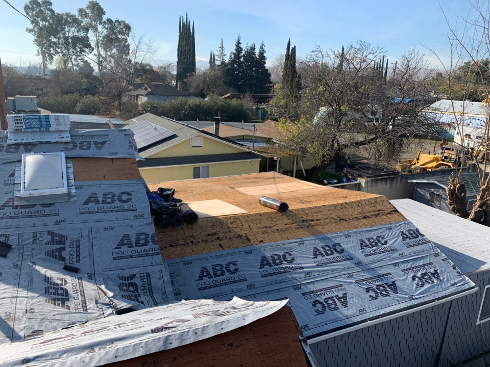 Tracy, CA - Tear off one layer of composition install IKO Cool Roof.