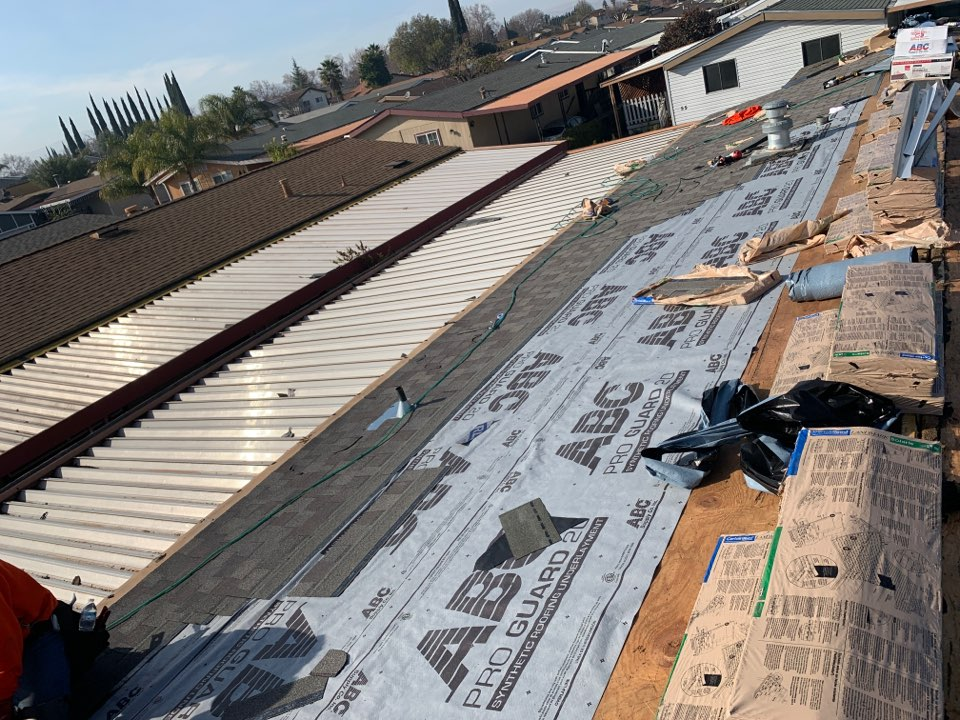 Tracy, CA - Tear off two layers of composition install certainteed weatherwood Solaris