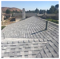 San Bernardino, CA - New shingle roof in color Sierra Grey