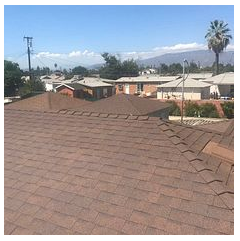 Ontario, CA - New shingle roof in color Forrest Brown