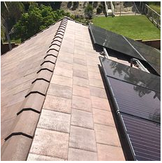 Yorba Linda, CA - New Standard Weight Concrete Tile in color Redish Brown/ New solar
