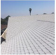 Corona, CA - New comp roof in color Shasta White