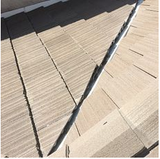 Rialto, CA - Valley repair using 30 lb Fontana felt paper and existing Boral tiles.