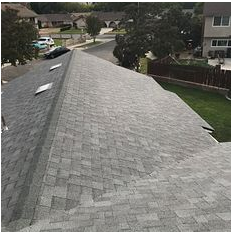 Riverside, CA - New comp roof using Owen Corning Tru Def Duration Sure Nail Shingle Roof System in color Mountainside and Owens Corning Titanium UDL30  underlayment.