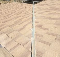 Riverside, CA - Tile repair at valley using 30lb Fontana felt paper and existing Boral tile
