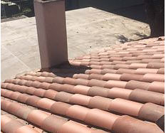 Riverside, CA - Complete re-felt using 2 layers of 40lb SBS Underlayment and existing tile