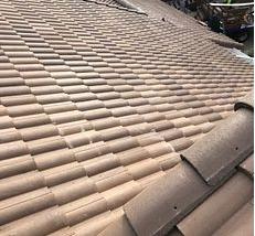 Riverside, CA - New tile roof using 30lb Fontana felt paper and Boral Villa 900 Brown Blend