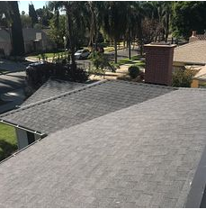 Riverside, CA - New comp roof using Owens Corning Titanium UDL30 and Owens Corning Tru Def Duration Sure Nail Shingle Roof System in color Night sky