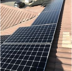 Loma Linda, CA - Tile maintenance and solar install using LG 335 WATT NEON 60Cell, high efficiency monocrystalline PV module.