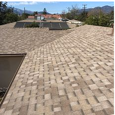 San Bernardino, CA - New comp roof using Owens Corning Titanium UDL30 and Owens Corning Tru Def Duration Sure Nail Shingle Roof System in color Sandcastle