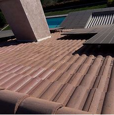 Redlands, CA - Tile repair using Owens Corning Weather Lock - Ice and Water Shield and existing Boral tiles
