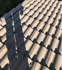 Fontana, CA - Tile repair using 30lb Fontana Felt Paper and existing Boral tiles.