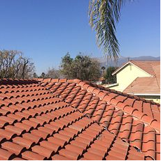 Rialto, CA - This is the finished result of the re-felt using the existing Boral tiles.