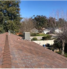 Redlands, CA - Customer called in looking for a new roof. After further review, our estimator determined roof to be worn out and in need of a new roof. Customer also chose to include a new solar system for her home.