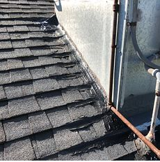 Riverside, CA - Customer called in for a new roof. After further review, our technician found various areas on roof looks to be patched.