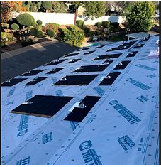 Riverside, CA - 1 layer of composition roofing was removed and installed Owens Corning Titanium UDL30 and Owens Corning Weather Lock - Ice and Water Shield in crucial areas.
