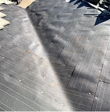 Riverside, CA - After removing the valley metal our men installed 2 layers of 30lb Fontana Felt paper.