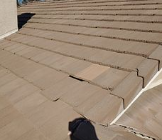 Corona, CA - Customer called in for a leak repair. After further review, our technician found loose tiles where the water went through causing damage to the underlayment.