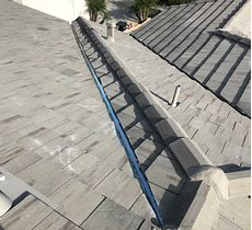 Corona, CA - This is the finished result of the re-felt after the existing Boral tiles were reinstalled.