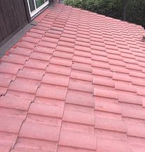 Moreno Valley, CA - This is the finish result after the existing Boral tiles were reinstalled and secured and all broken tiles were replaced.