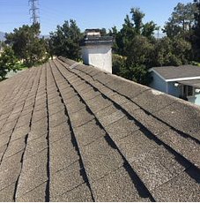 Fontana, CA - Customer called in for a new roof. After further review out technician found shingles to be worn out.