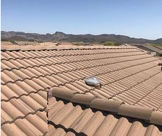 Rialto, CA - Customer noticed a few leaks on her roof from the previous rain the winter before and was looking for repairs. After further review, our technician found the felt paper underneath was completely eroded and recommended a re-felt.