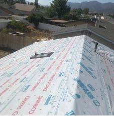 San Bernardino, CA - Our men removed 1 layer of composition roofing and installed 1 layer of Owens Corning Titanium UDL30 and Owens Corning Ice and Water Shield is crucial areas.