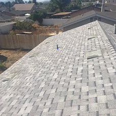 San Bernardino, CA - This is the final result using Owens Corning Tru Def Duration Sure Nail Shingle Roof System in the color Sierra Gray.