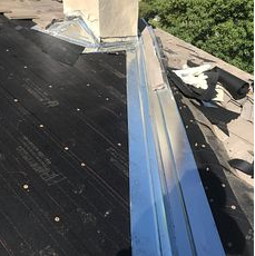 Rialto, CA - Our men installed 2 layers of 30lb Fontana Felt Paper and Owens Corning Weather Lock - Ice and Water Shield in crucial areas. They also installed new metal around the valley and chimney area.