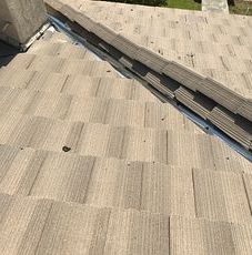 Rialto, CA - This is the final result of the repair using existing Boral tiles and tile maintenance.