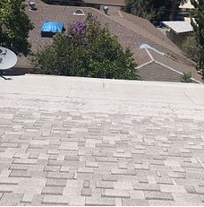 Loma Linda, CA - Customer called in for a new roof. After further review, our technician found that the existing shingles were worn out.