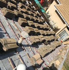 Corona, CA - Our men removed the existing tile, felt paper and sheathing. They installed Boral Tile Seal SA Underlayment  and Owens Corning Ice and Water Shield is crucial areas as well as Boral Elevated Battens.
