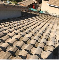 Corona, CA - This is the final result of the re-felt using the existing Boral tiles.