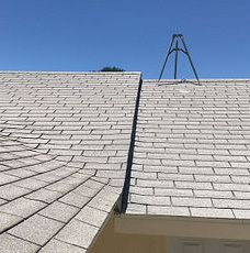 Moreno Valley, CA - Customer called in about getting a new roof. After furhter review, our technician found the roof to be worn out. as well as lifting shingles.