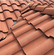 Colton, CA - Customer has a few leaks they noticed during the rainy season. After further review, our technician noticed broken tiles and the felt paper underneath to be eroded. He recommended a re-felt for the roof.