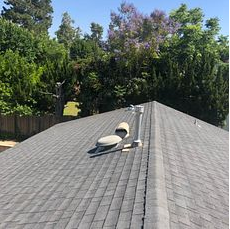 Loma Linda, CA - When planing on getting solar for your home, it's always best to ensure you have a good foundation. This client was advised from her solar company that the roof had about 5 years left and recommended they install a new roof to avoid any problems that may be cause because of the old age of the roof. As you can see, the shingles are starting to curl, lift and crack.