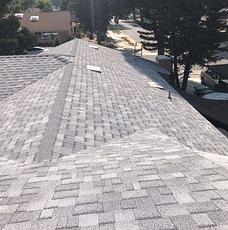 Loma Linda, CA - This completed roof is ready for solar to be installed. Solar panels are generally insured for 25 years, which works perfect with the Owens Corning Tru Definition Duration Sure Nail Shingle Roof System because it also last you between 25-30 years minimum. The shingle color for this roof is Sierra Grey.