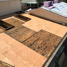 Corona, CA - You never know what to expect when it comes to the condition of your underlayment. As shown in this picture, our men replaced the damaged wood to help ensure your roof will last you its entirety.