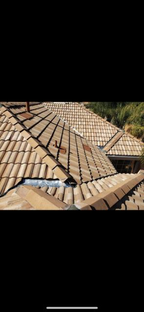 Fontana, CA - Before tiles went down, we installed 4' Boral Elevated Battens which reduce heat transfer in the attic up to 30 degrees and 14 O'Hagin Galvanized Steel Low Profile Tapered Vents to also help reduce heat into the attic by 17-25%. We then reinstalled existing Concrete Tile and replaced broken ones to prevent future damage.
