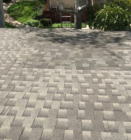 Riverside, CA - Lastly we installed Owens Corning Tru Def Durantion Sure Nail Shingles to match as close as possible to the existing shingles.
